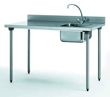 TABLE DU CHEF CHR 1200 BAC BAC A DROITE AVEC ROBINET