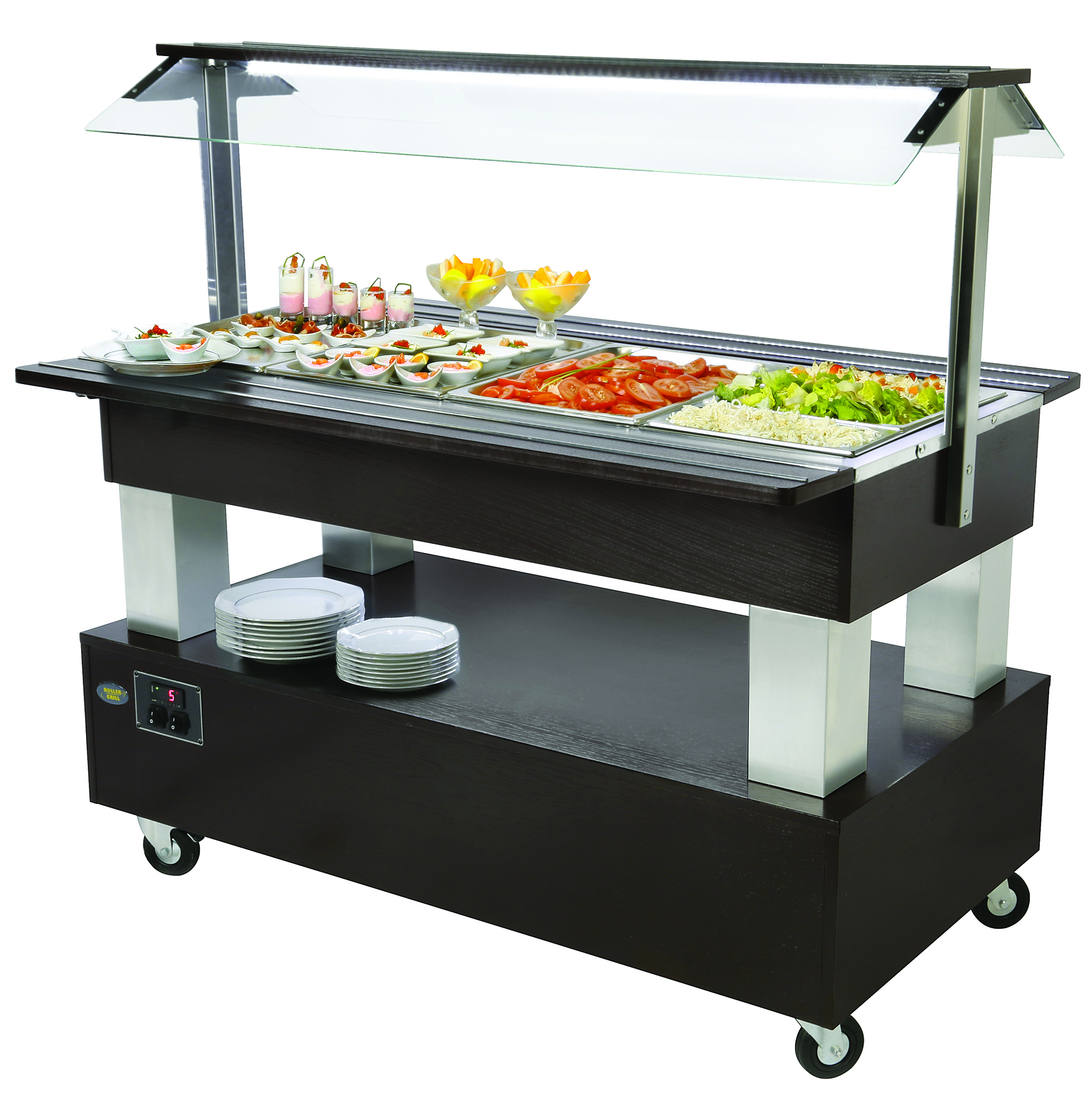 BUFFET CENTRAL REFRIGERE 4 BACS GN 1/1 WENGE