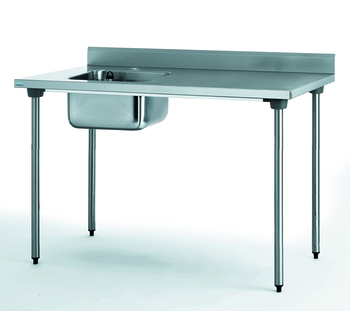 TABLE DU CHEF CHR 700X1600 BAC A GAUCHE AVEC ROBINET