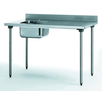 TABLE DU CHEF CHR 700X1200 BAC A GAUCHE AVEC ROBINET
