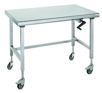TABLE ERGONOMIX CENTRALE SUR ROUES 700 X 1200 MM