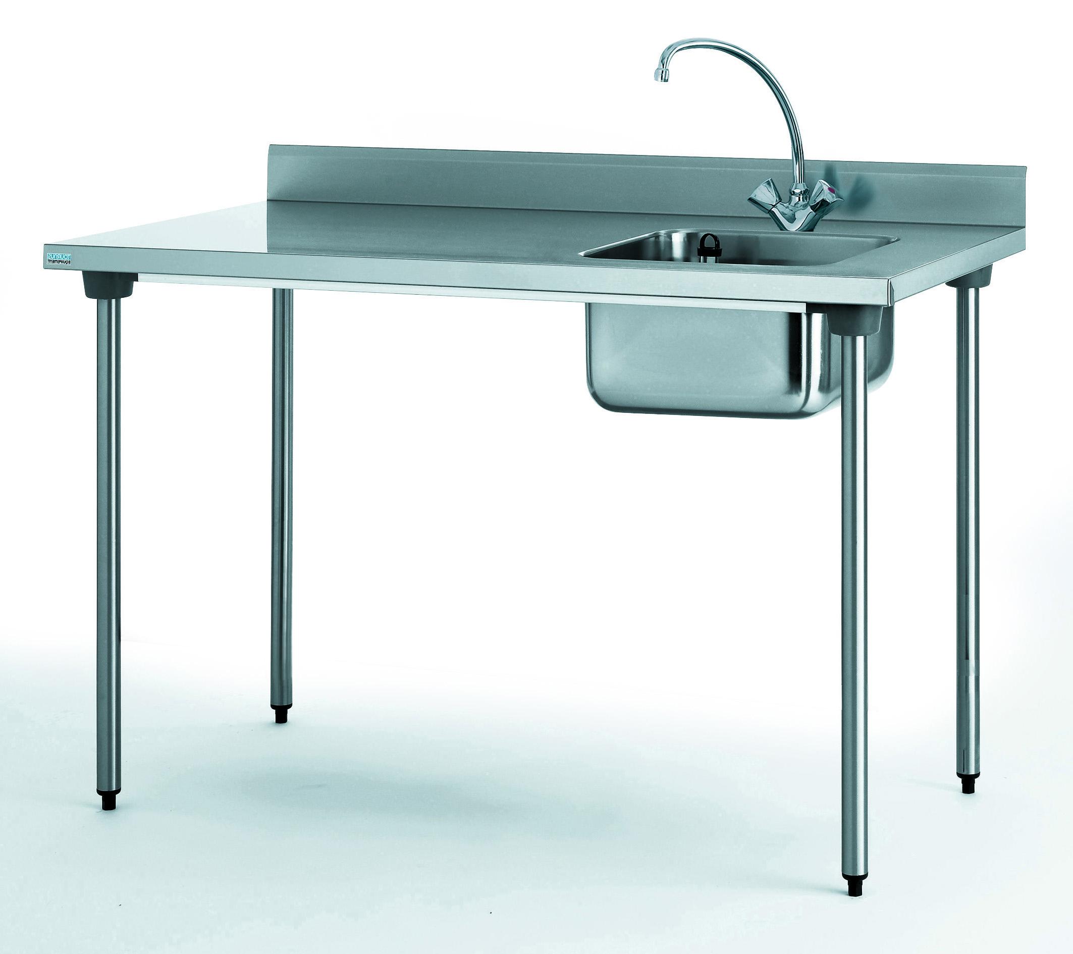 TABLE DU CHEF CHR 1600 BAC BAC A DROITE AVEC ROBINET