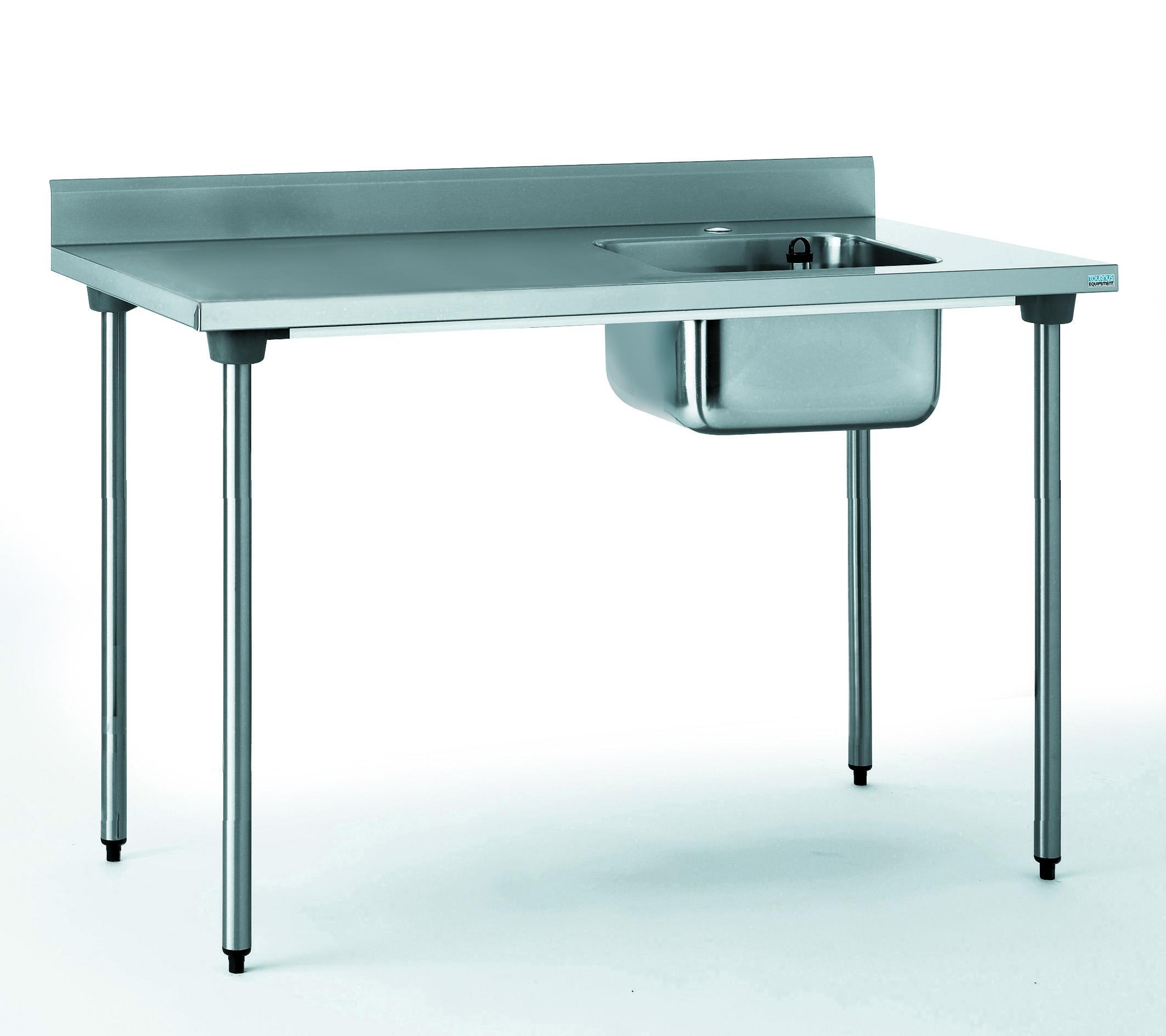 TABLE DU CHEF CHR 700X1200 BAC A DROITE SANS ROBINET