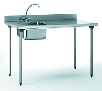 TABLE DU CHEF CHR 700X1400 BAC A GAUCHE AVEC ROBINET