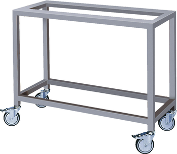 CHASSIS INOX A ROULETTES POUR ROTISSOIRE MAP E